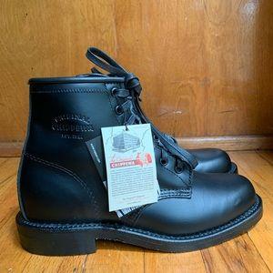 "Chippewa 6"" Trooper Black Aldrich Utility Boots"